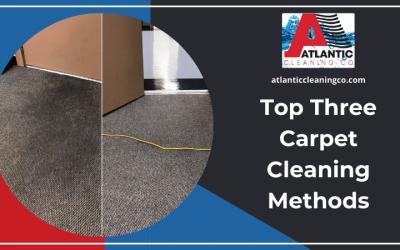 Top Three Carpet Cleaning Methods