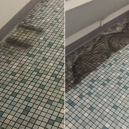 Tile & Grout Cleaning Before After